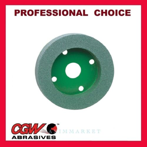 """CGW Green Silicon Carbide Plate Mounted Wheel 6""""x 1""""x 4"""" Grit: 60, 80, 100, 120"""
