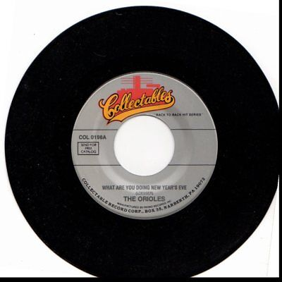 Orioles What Are You Doing New Years Eve Lonely Christmas 45Rpm Vinyl