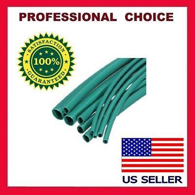 10 Feet Green Heat Shrink Tubing 316 Inch 21 Ratio Sleeve Wire Wrap Usa Seller