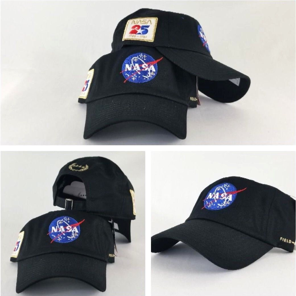 5f6d9f36a8f 25th NASA Logo By Field Grade Black DAD Hat Snapback Strapback CAP.  start elivehelp btncode