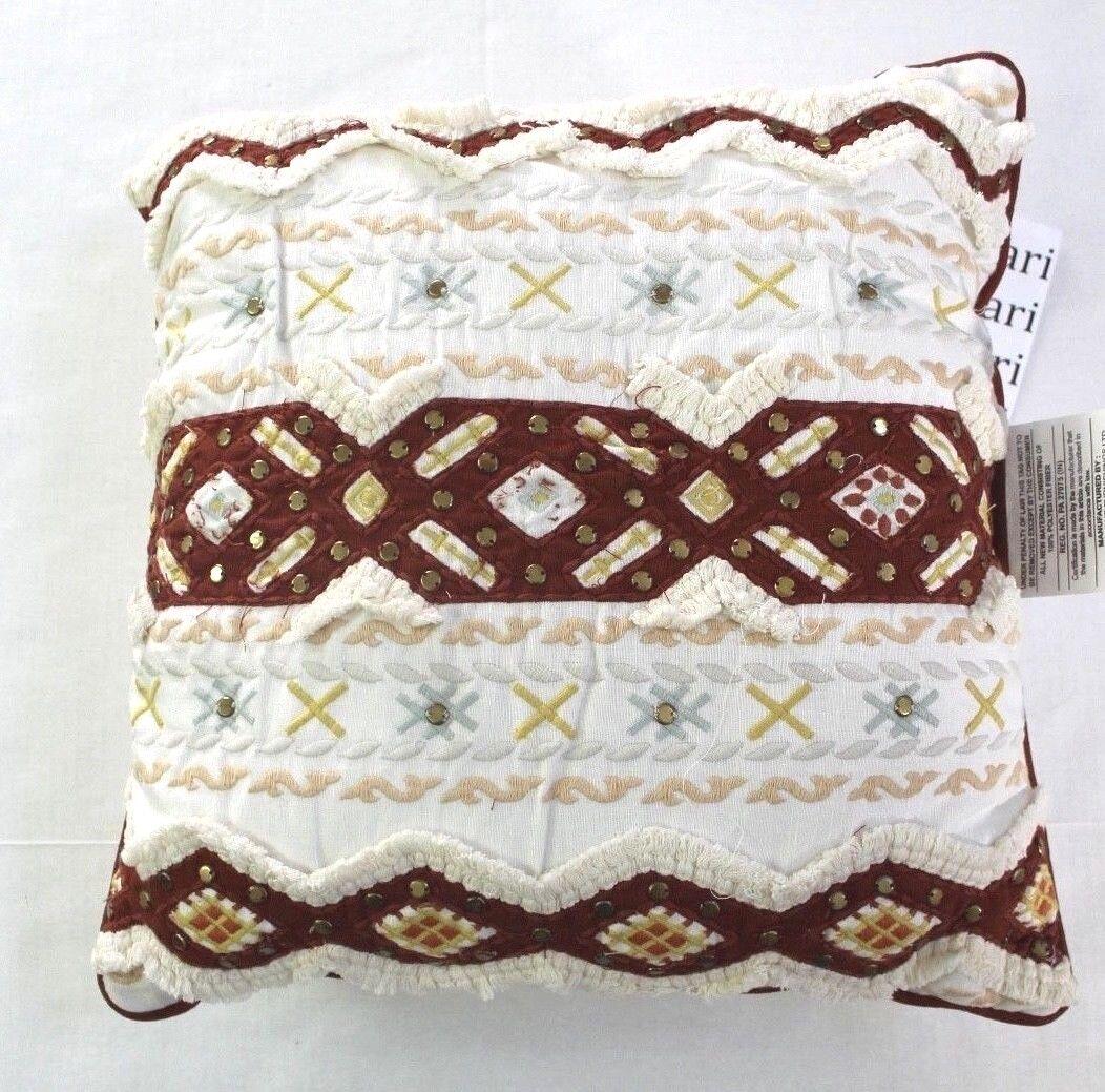 Nate Berkus Decorative Embellished Stud Embroidered Throw Pi