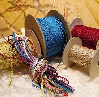 Vintage 5mm Picot loop braid edge lace trim Ginny Dolls - various colors- (Sewing Trim)