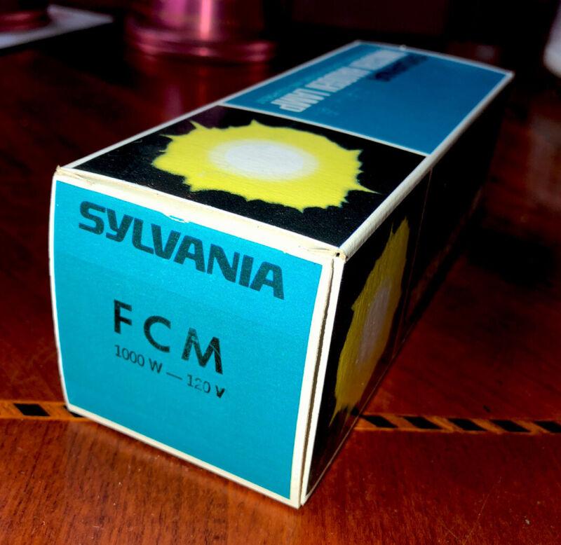 FCM Sylvania Quartz 1000W 120V Tungsten Halogen Lamp Bulb 3200K 28000 Lumens NOS