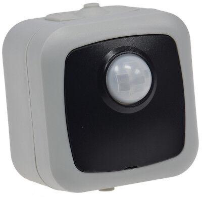 Feuchtraum IP44 Aufputz Bewegungsmelder LED ok 2-500W 120° Reichweite max. 6m