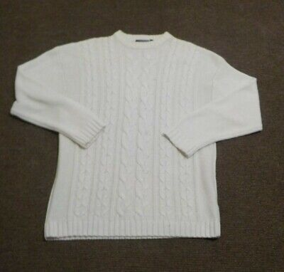 Petroleum white vintage knitwear crew neck jumper.medium men's size