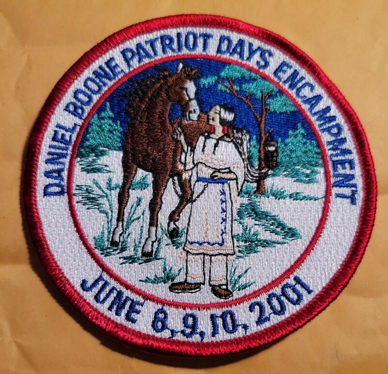 DANIEL BOONE HOMESTEAD - 2001 PATRIOT DAYS PATCH - MINT  - BOY SCOUTS