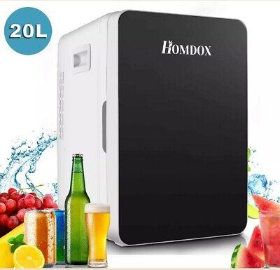HOMDOX Single Door 20L Compact Mini Dorm Office Car Refrigerator Freezer DC 12V