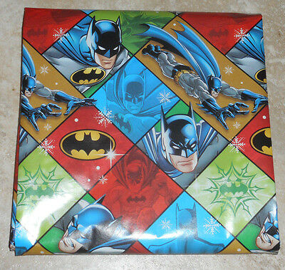 AMERICAN GREETINGS BATMAN KIDS CHRISTMAS Wrapping PAPER 20 SQ FT FOLDED