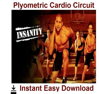 INSANITY- Plyometric Cardio Circuit Workout Video Instant Download
