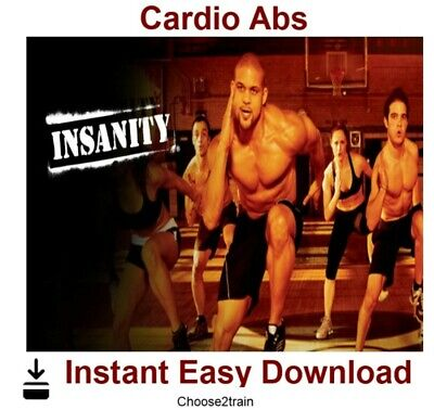 INSANITY- Cardio Abs Workout Video Instant Download
