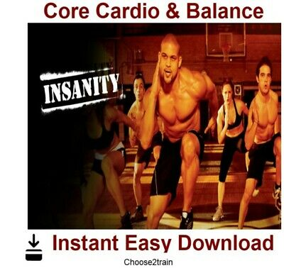 INSANITY- Insanity Cardio Core Balance Workout Video Instant Download
