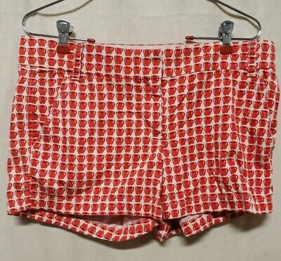 "J CREW Womens Sz 6 Shorts Mini Delicious Apple Cotton Summer Cruise 3"" Inseam"
