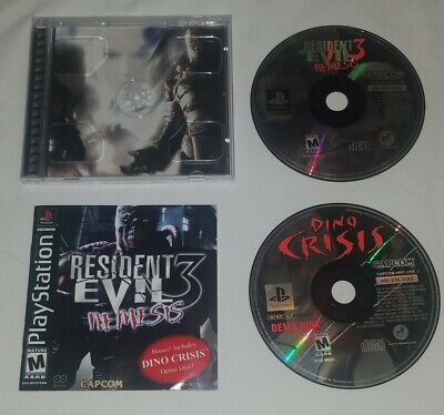 Resident Evil 3: Nemesis & Dino Crisis Demo (Sony PlayStation 1, PS1, PS2) 🔥