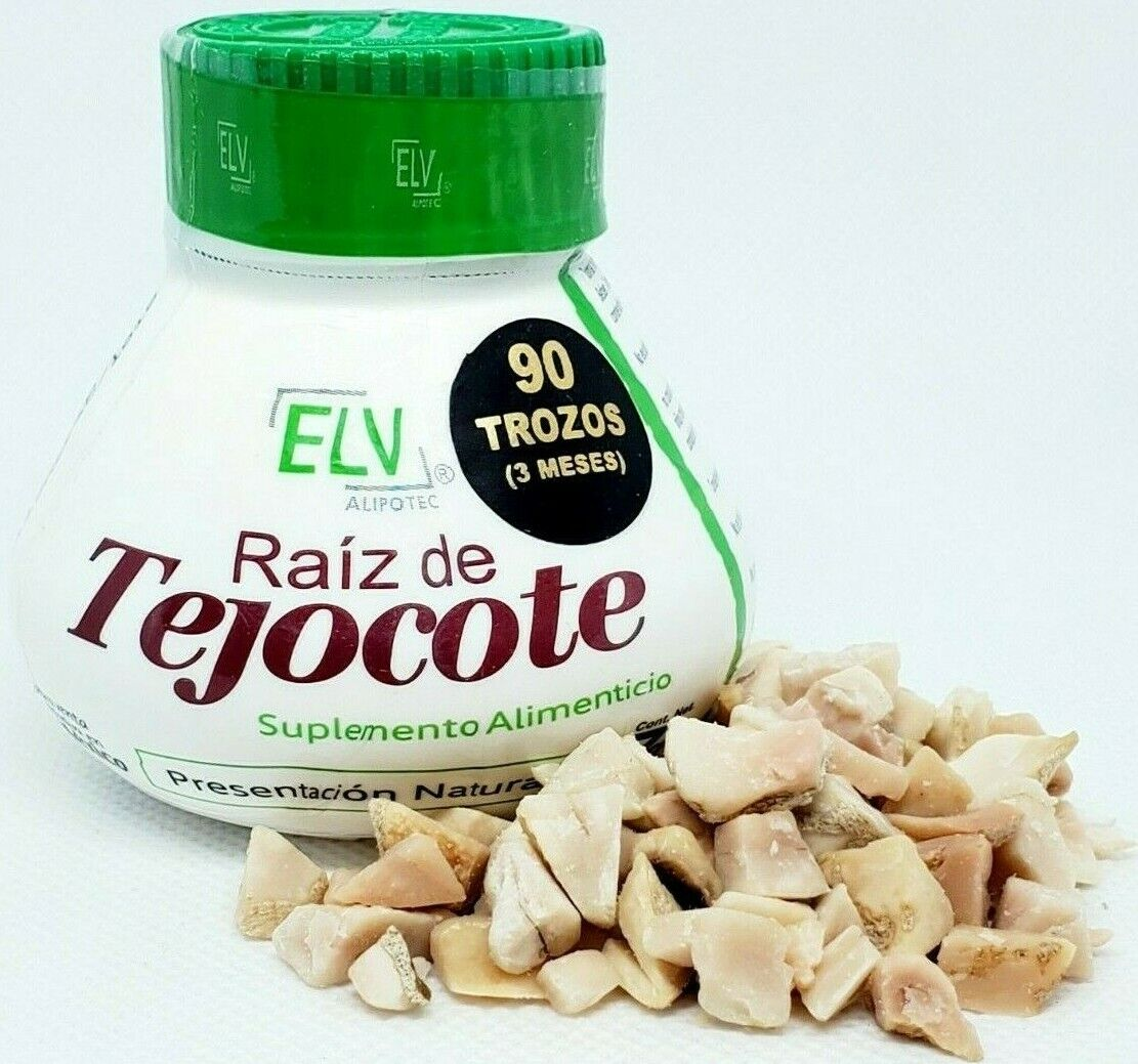 ELV Raiz de tejocote 3 Month supply root 90 trozos de raiz 100% Natural 3 meses