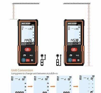 Laser Distance Measure Meterk 131 Ft Minft Laser Distance Meters