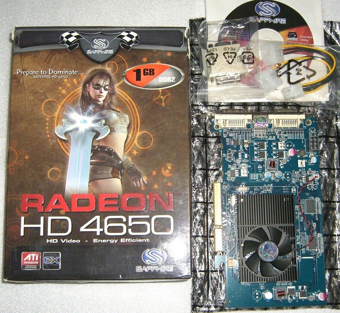 Sapphire ATI HD4650 1GB AGP Grafikkarte AMD Radeon HD 4650 1024MB AGP8x DVI VGA