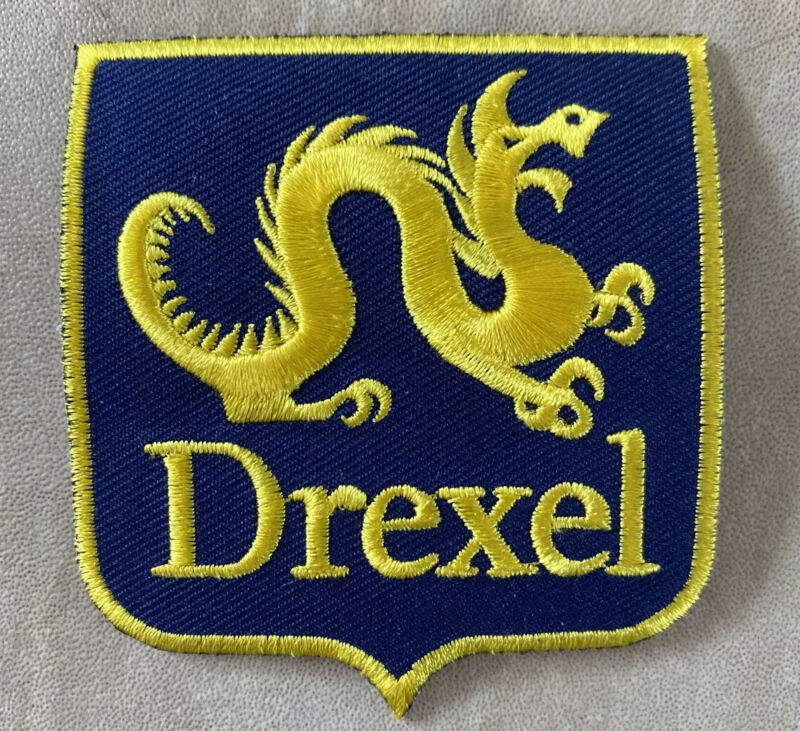 """Drexel University Patch Alumni - 3"""" Embroidered Iron-on Rare Patches Dragon New"""