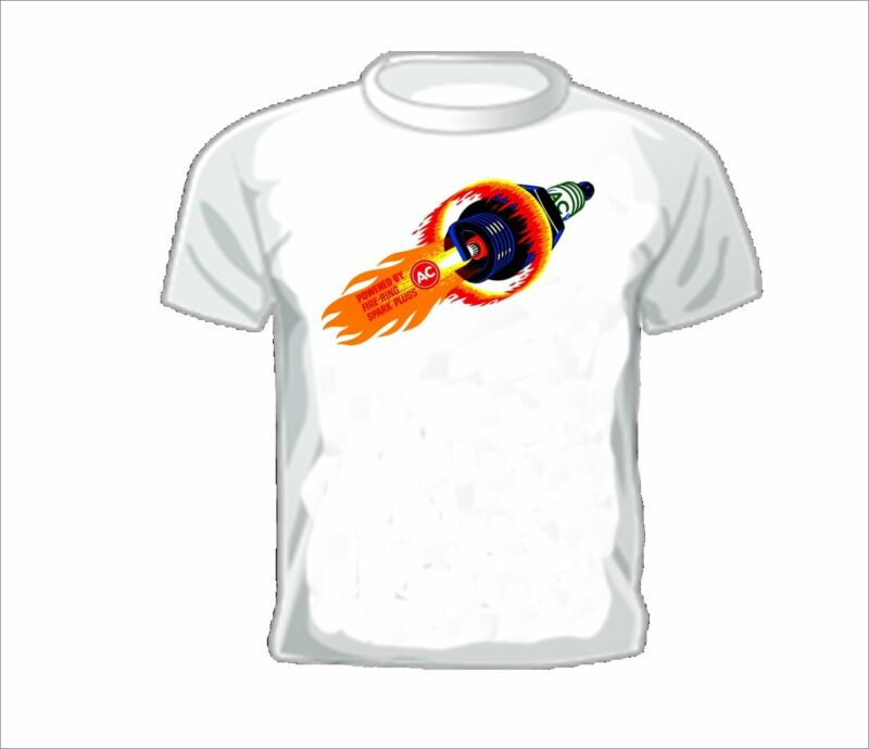 Vintage Race T-shirt AC FIRERING SPARK PLUG