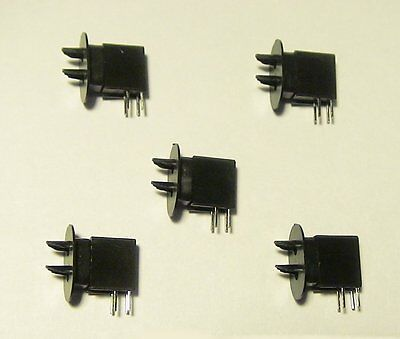 5 NEW S SCALE 2 POSITION GREEN OVER RED D TYPE DWARF SIGNALS