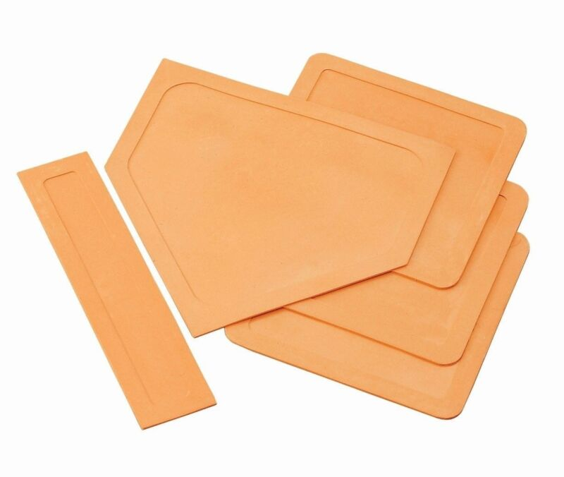Champion Sports Set of 5 Rubber Throw Down Bases 97