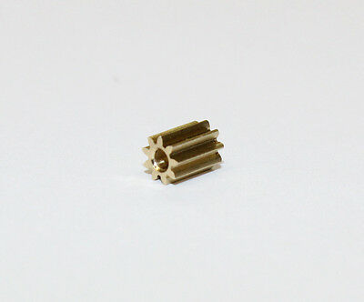 Ritzel Ersatz-Zahnrad für Lego Duplo Intelli Lok, Modul 0,4, 9Zähne aus Messing