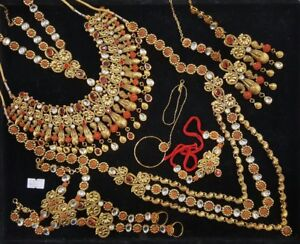 All ladies jewellery bridal necklace choker earring tikka jhumer