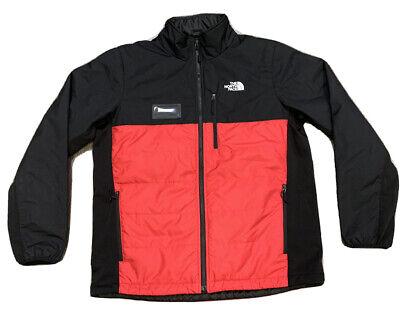 North Face Men's Primaloft Full Zip Up Red / Black Jacket Size Large