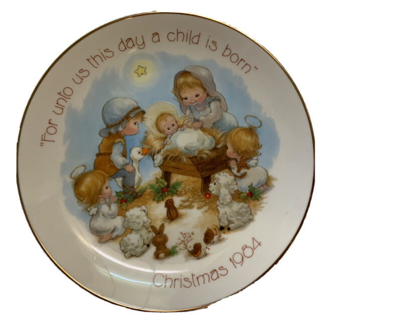 Christmas For Unto Us This Day A Child Is Born Collectible Plate 1984 #2209
