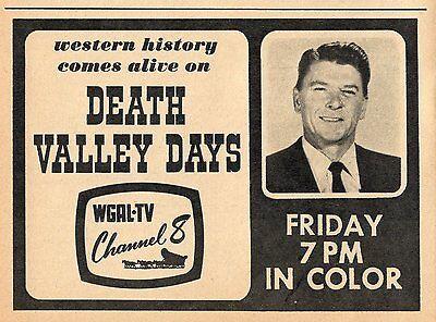 1966 Wgal Tv Ad Ronald Reagan Death Valley Days Western Series U S  President