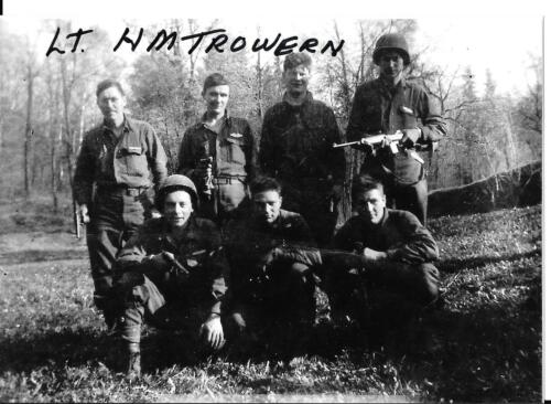 HOWARD TROWERN 87TH INFANTRY DIVISION  BATTLE OF THE BULGE VET RARE SIGNED PHOTO
