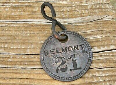 "ca 1905 TONOPAH NEVADA NV (NYE CO) TONOPAH-BELMONT MINE ""BUCK"" EARLY MINING TAG"