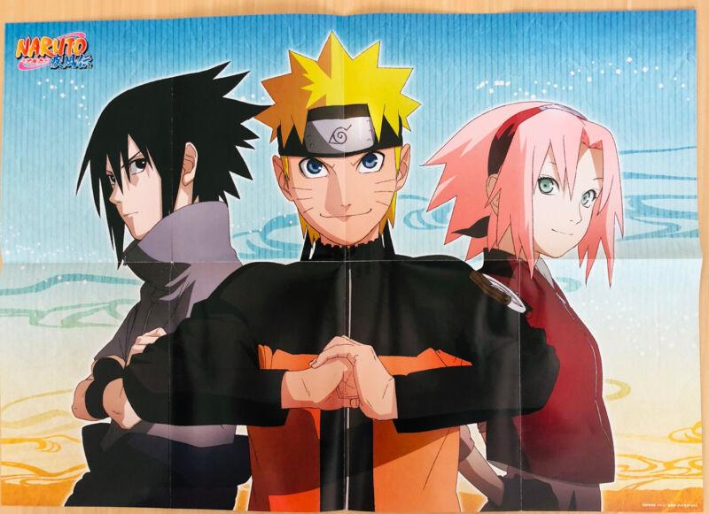 【Fold Type】Naruto : A2 size Bosh side Magazine bonus Poster