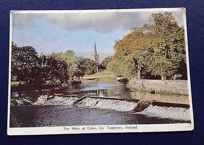 POSTCARD: THE WEIR AT CAHIR: CO TIPPERARY: IRELAND: UN POSTED