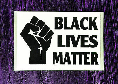 BLACK LIVES MATTER FIST!! Sticker Packs (25-500) - BLM End Racism Fast Despatch!