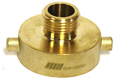 """NNI FIRE HYDRANT BRASS ADAPTER 1-1/2"""" Female NST NH x 3/4"""" GHT Male HSR-15075G"""