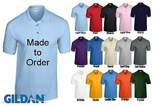 New gildan personalised custom printed work uniform for Polo work shirts with company logo