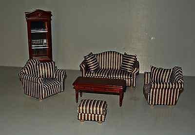 Wohnzimmer 6 Teilig In 1:12 , Puppenmöbel , Puppenstube , Möbel, Set 1154