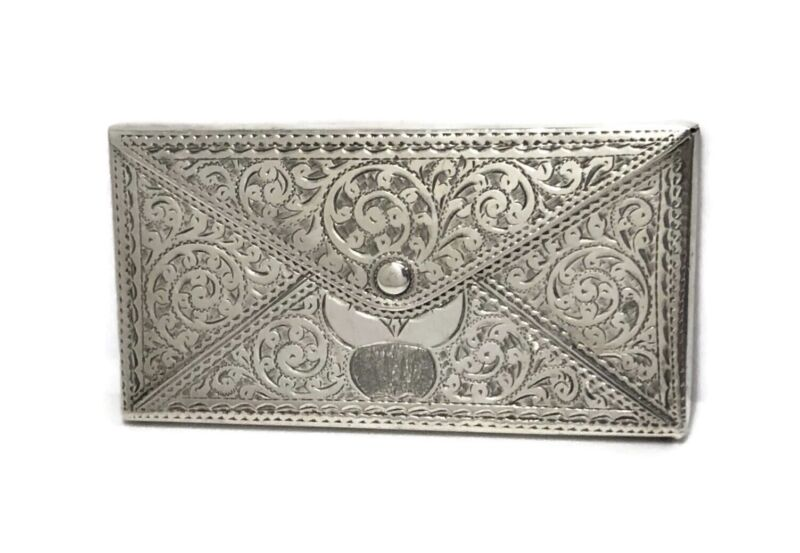Antique Robert Pringle & Sons 1907 Sterling Silver Calling Card Case