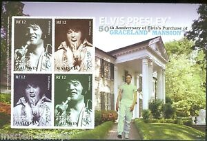 MALDIVES-50-YEARS-OF-ELVIS-GRACELAND-SC-2893-SHEET-IMPERFORATED-MINT-NH