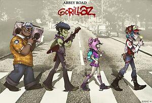 Gorillaz Music Band Group Silk Cloth Poster 20 x13