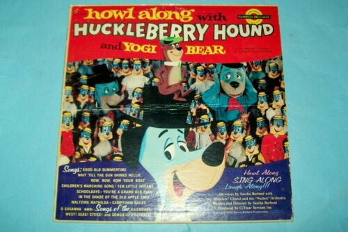 "1960 Record Album ""Howl Along With Huckleberry Hound & Yogi Bear""  Free Shipping"