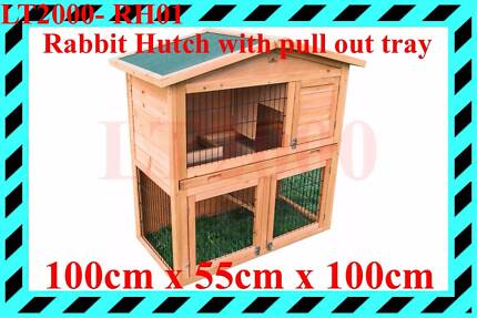 Rabbit hutch with pull out tray