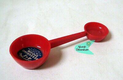 Vintage 1950s LUSTRO-WARE 4 in 1 MEASURING SPOON Hard plastic RED UNUSED NOS
