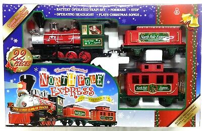 Adventure Wheels The NORTH POLE EXPRESS 22p Christmas Train Set Battery Operated