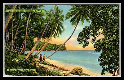 GP GOLDPATH: JAMAICA POST CARD 1954 _CV676_P10