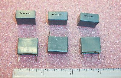 Qty 50 1uf 250v 10 Radial Metallized Film Capacitors R60ii4100k Arcotronics