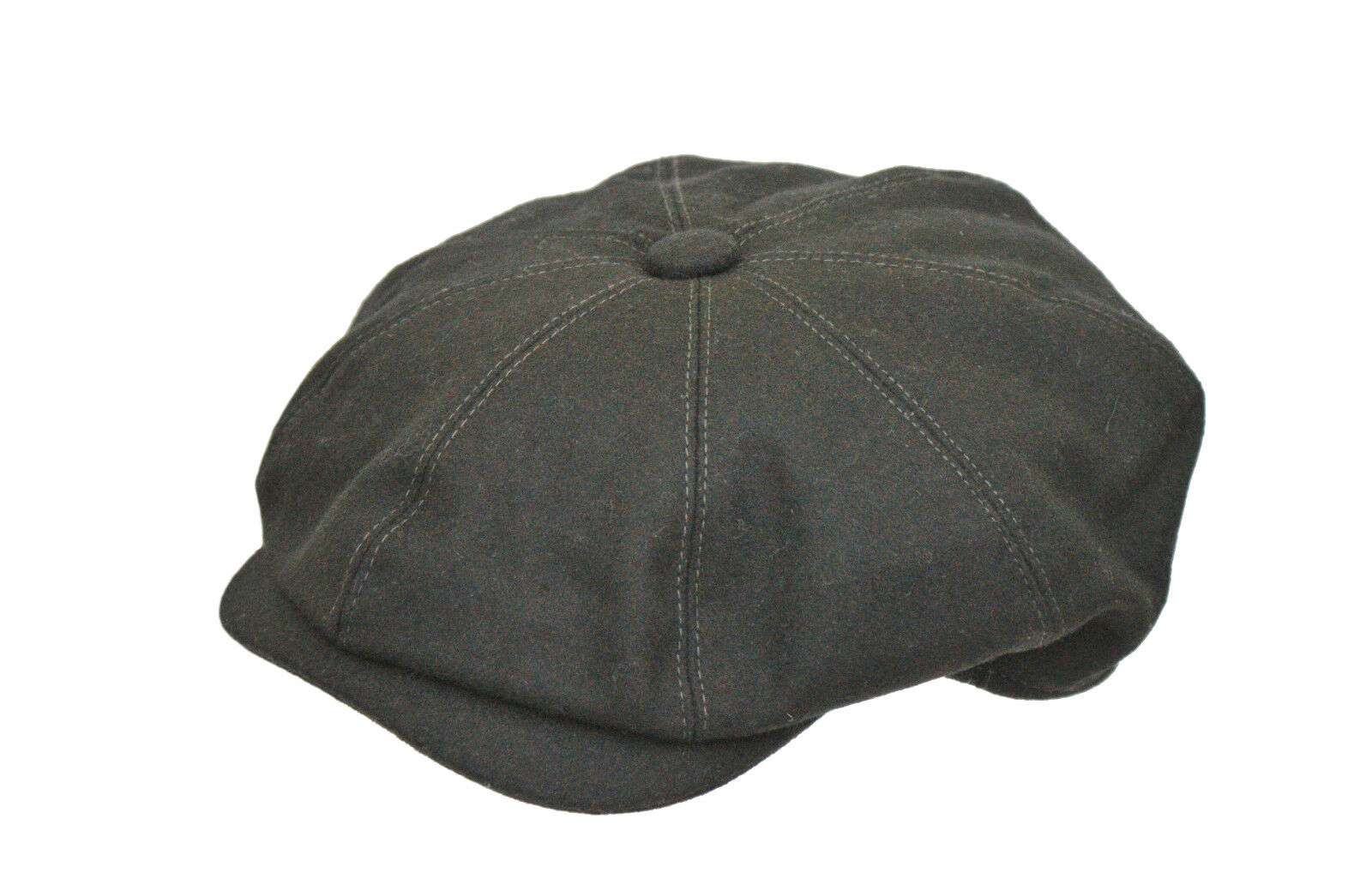 New Men/'s Wool Chunky Black 8 Panel Herringbone Peaky Baker Boy Gatsby Cap CH4