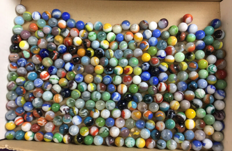 Vintage Lot Of Marbles Approximately 290