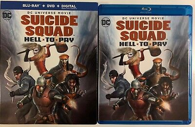 Dc Comics Suicide Squad Hell To Pay Blu Ray Dvd 2 Disc Set   Slipcover Sleeve