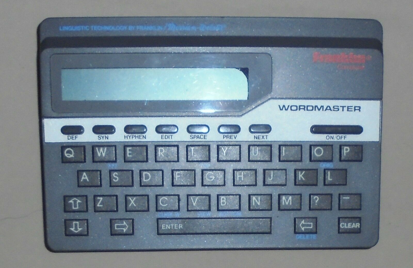 Franklin 1989 WORDMASTER DELUX  1055 Hand-Held Merriam-Webster Thesaurus
